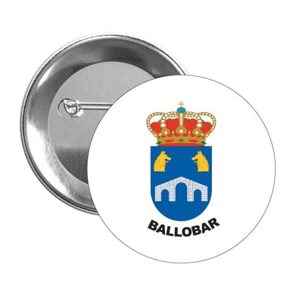 1481 chapa escudo heraldico ballobar