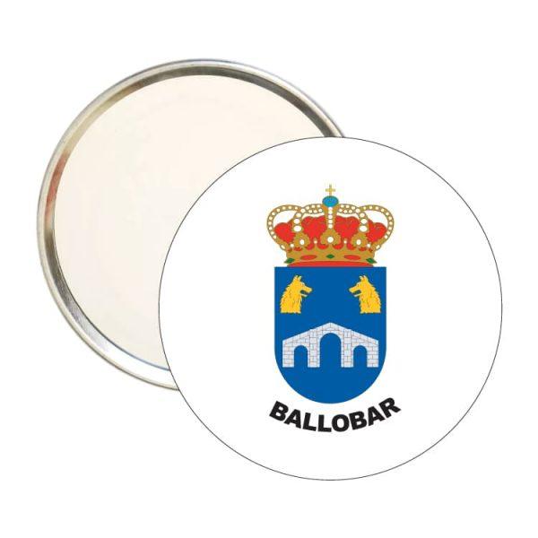 1481 espejo redondo escudo heraldico ballobar