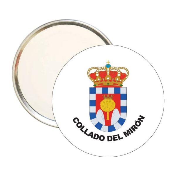 1482 espejo redondo escudo heraldico collado del miron