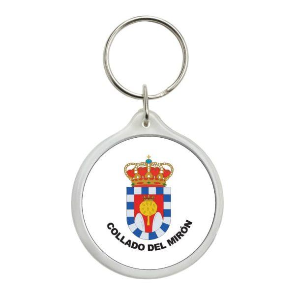 1482 llavero redondo escudo heraldico collado del miron