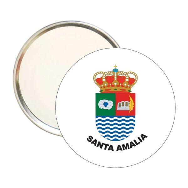 1488 espejo redondo escudo heraldico santa amalia