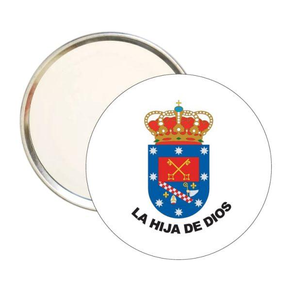 1490 espejo redondo escudo heraldico la hija de dios