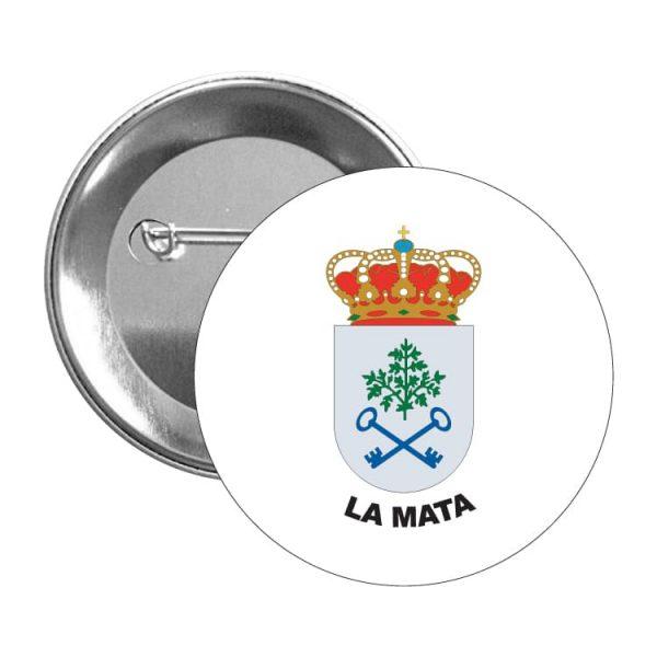 1495 chapa escudo heraldico la mata