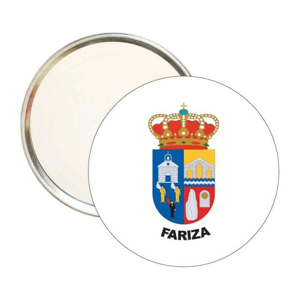 1496 espejo redondo escudo heraldico fariza