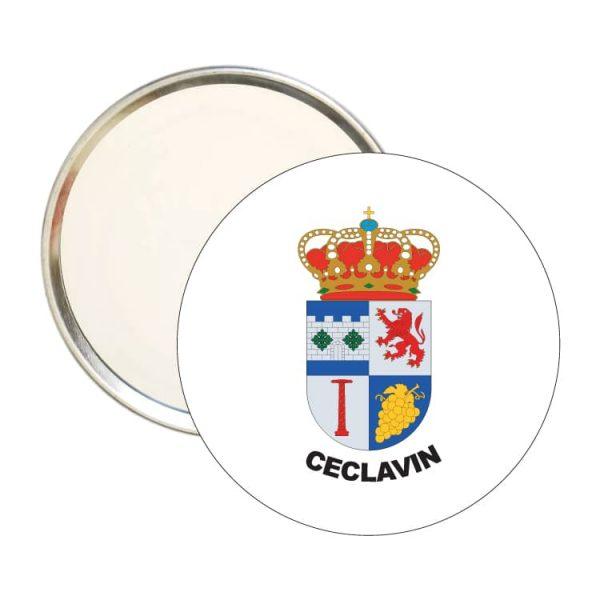 1497 espejo redondo escudo heraldico ceclavin