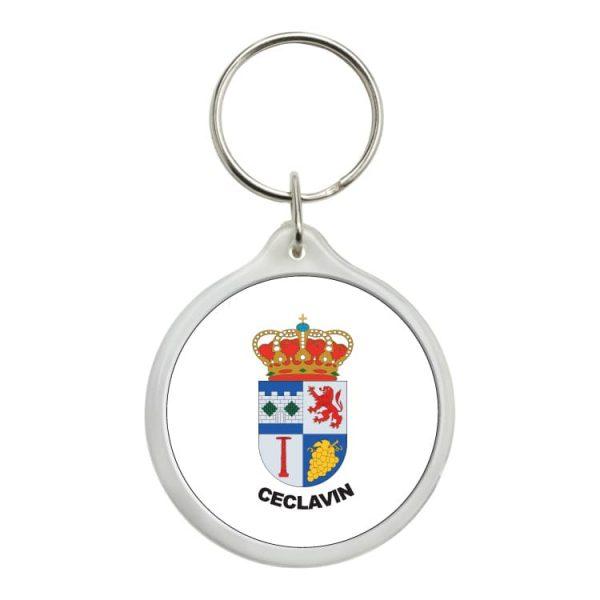 1497 llavero redondo escudo heraldico ceclavin