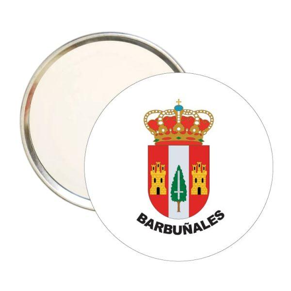 1498 espejo redondo escudo heraldico barbuñales