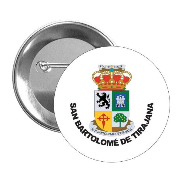 1502 chapa escudo heraldico san bartolome de tirajana