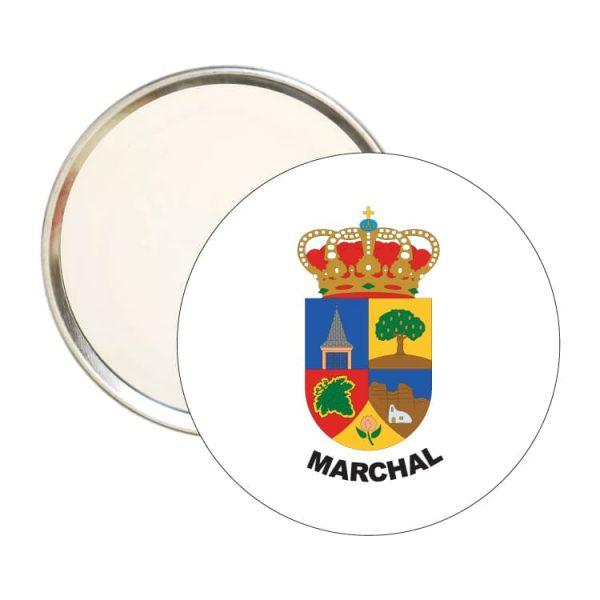 1505 espejo redondo escudo heraldico marchal