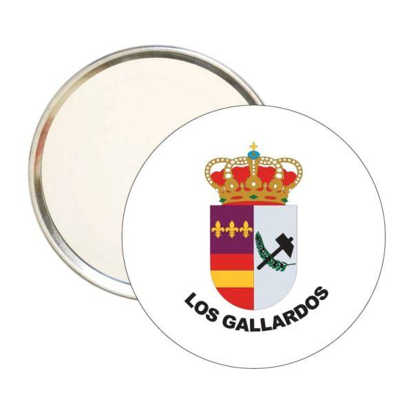 1507 espejo redondo escudo heraldico los galalrdos