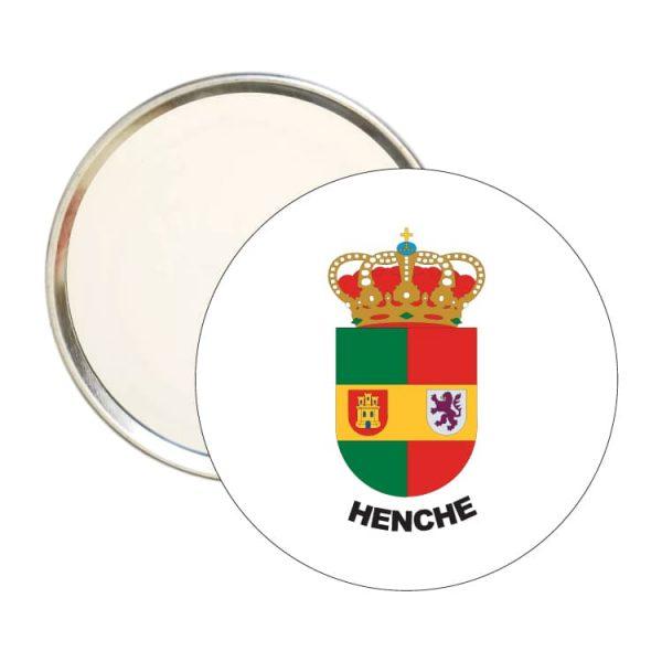 1508 espejo redondo escudo heraldico henche