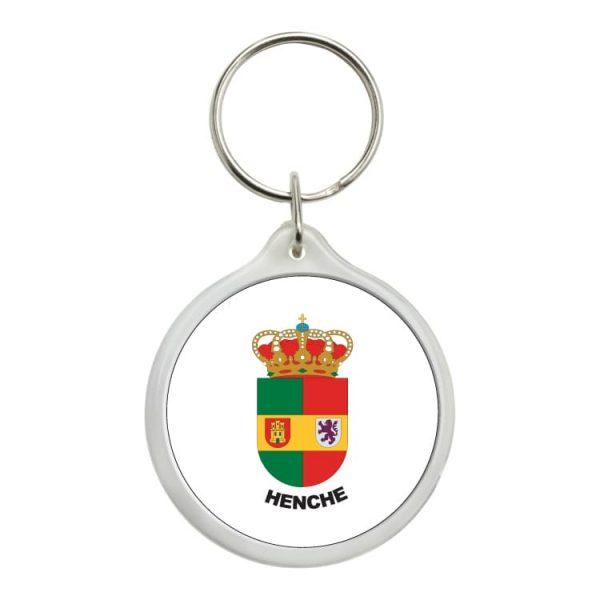 1508 llavero redondo escudo heraldico henche