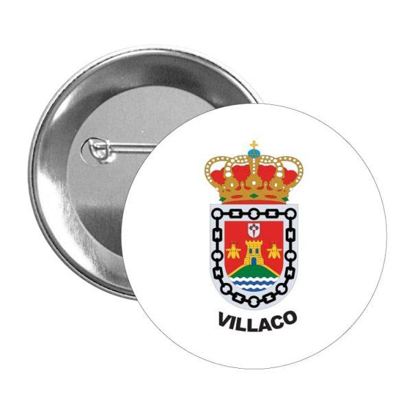1510 chapa escudo heraldico villaco