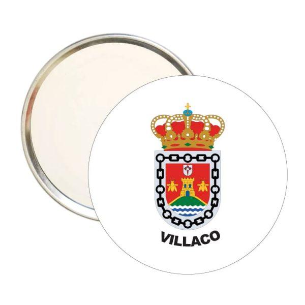 1510 espejo redondo escudo heraldico villaco