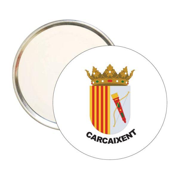 1515 espejo redondo escudo heraldico carcaixent