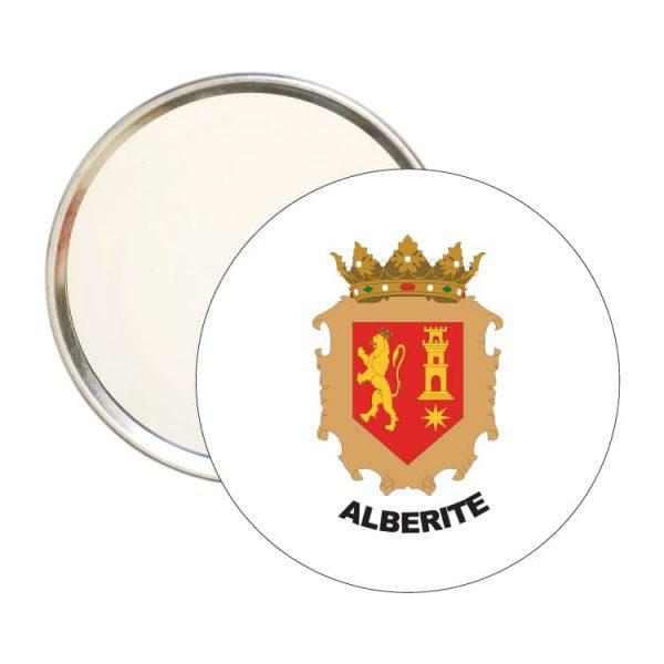 1517 espejo redondo escudo heraldico alberite