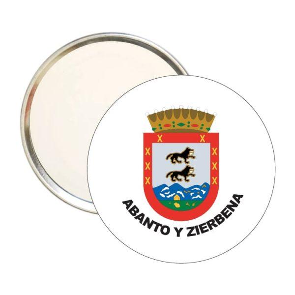 1523 espejo redondo escudo heraldico abanto y zierbena
