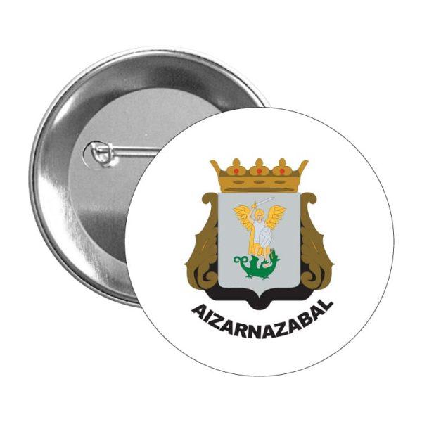 1524 chapa escudo heraldico aizarnazabal