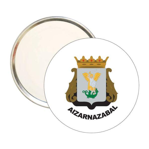 1524 espejo redondo escudo heraldico aizarnazabal