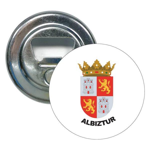 1525 abridor redondo escudo heraldico albiztur