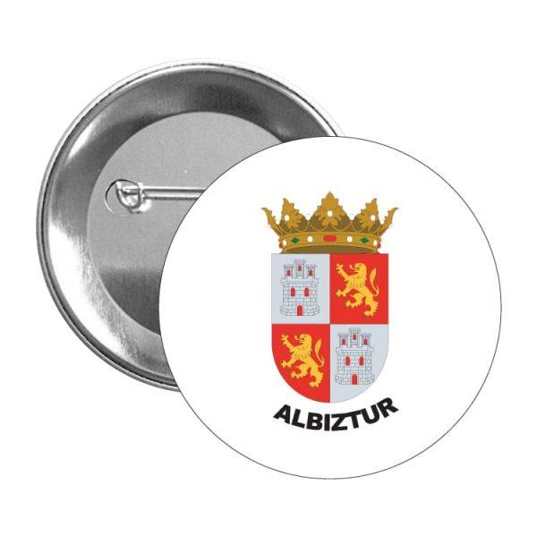 1525 chapa escudo heraldico albiztur
