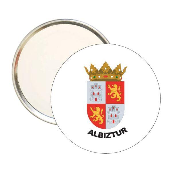 1525 espejo redondo escudo heraldico albiztur