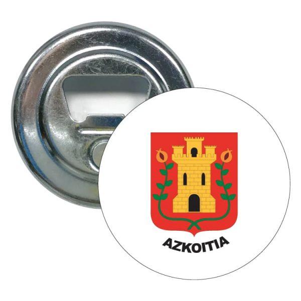 1527 abridor redondo escudo heraldico azkoitia