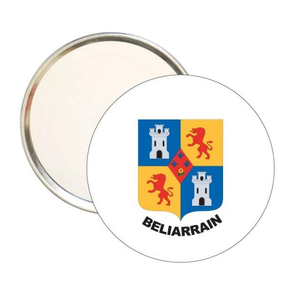 1529 espejo redondo escudo heraldico beliarrain