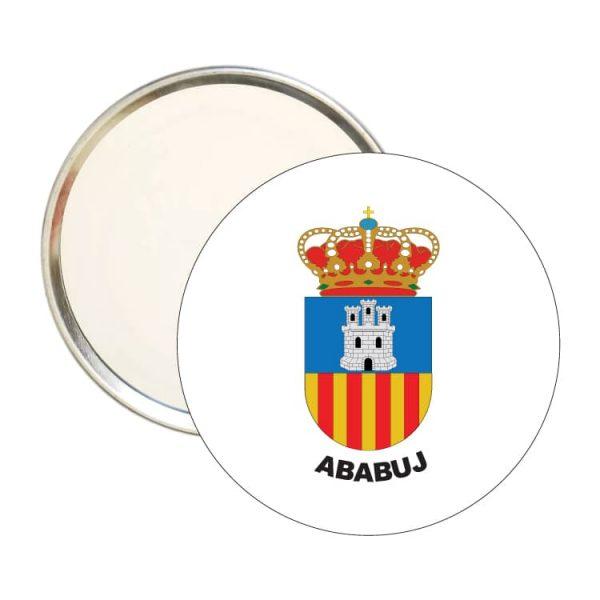 1537 espejo redondo escudo heraldico ababuj