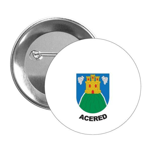 1538 chapa escudo heraldico acered