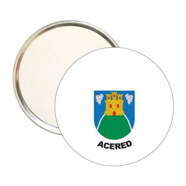 1538 espejo redondo escudo heraldico acered