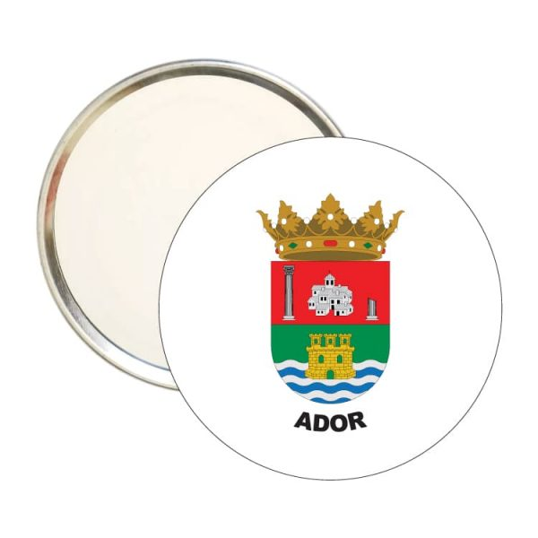 1540 espejo redondo escudo heraldico ador