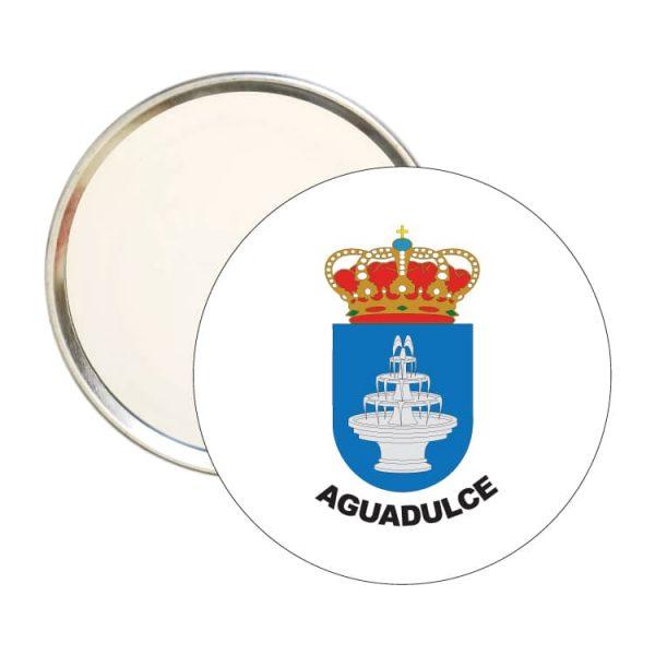 1542 espejo redondo escudo heraldico aguadulce