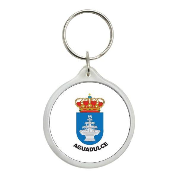 1542 llavero redondo escudo heraldico aguadulce