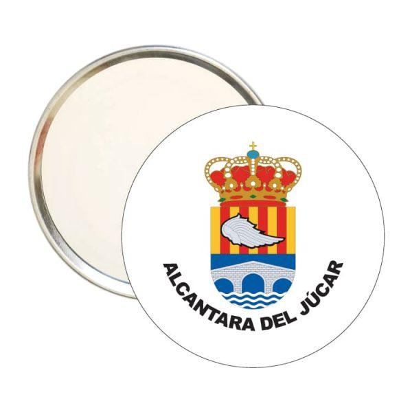 1546 espejo redondo escudo heraldico alcantara del jucar