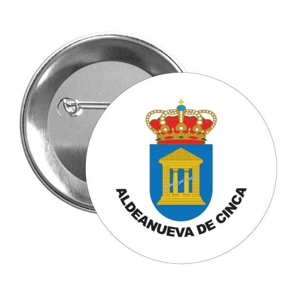 1548 chapa escudo heraldico aldeanueva de cinca