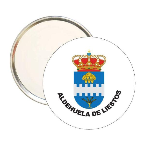 1549 espejo redondo escudo heraldico aldehuela de liestos