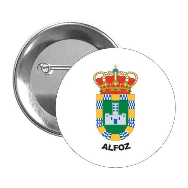 1550 chapa escudo heraldico alfoz