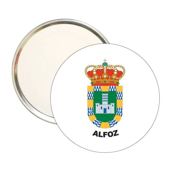 1550 espejo redondo escudo heraldico alfoz