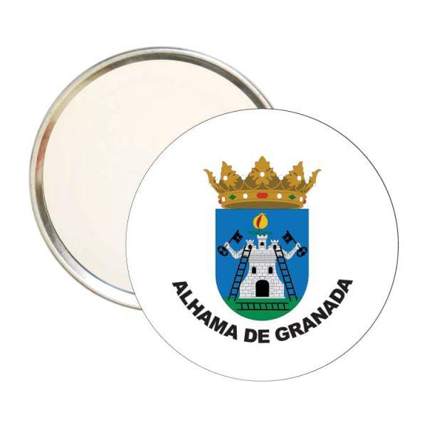 1552 espejo redondo escudo heraldico alhama de granada