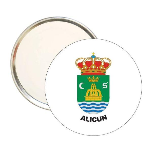 1553 espejo redondo escudo heraldico alicun