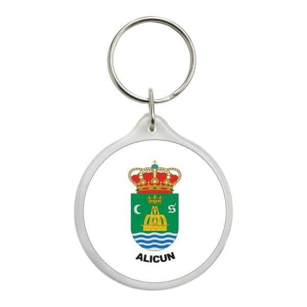 1553 llavero redondo escudo heraldico alicun