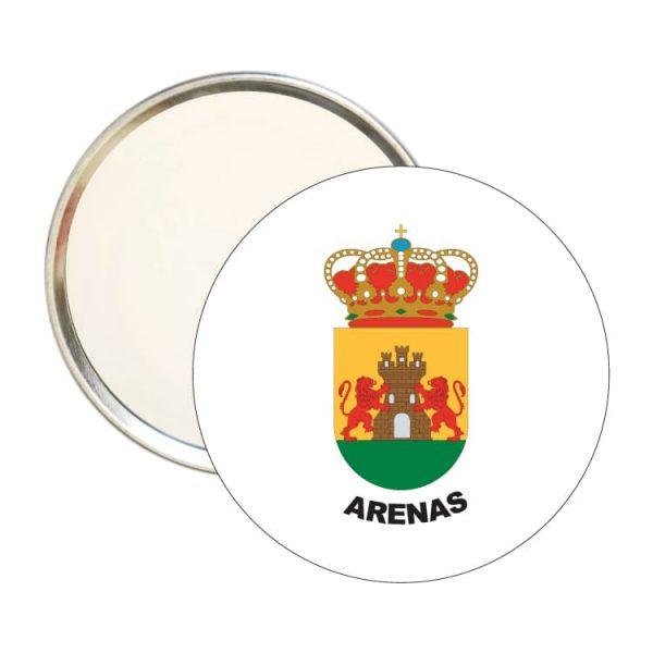 1559 espejo redondo escudo heraldico arenas