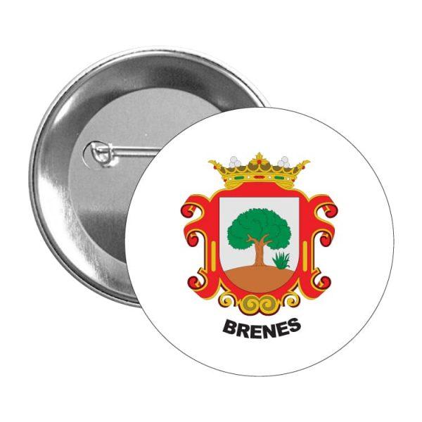 1566 chapa escudo heraldico brenes