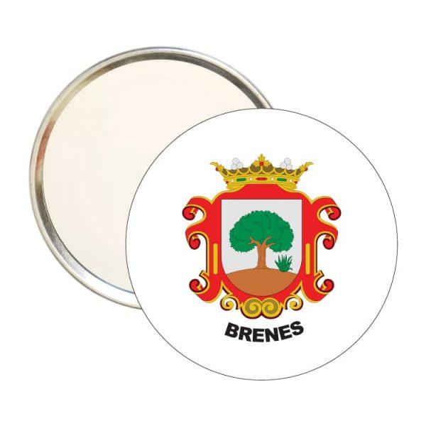 1566 espejo redondo escudo heraldico brenes