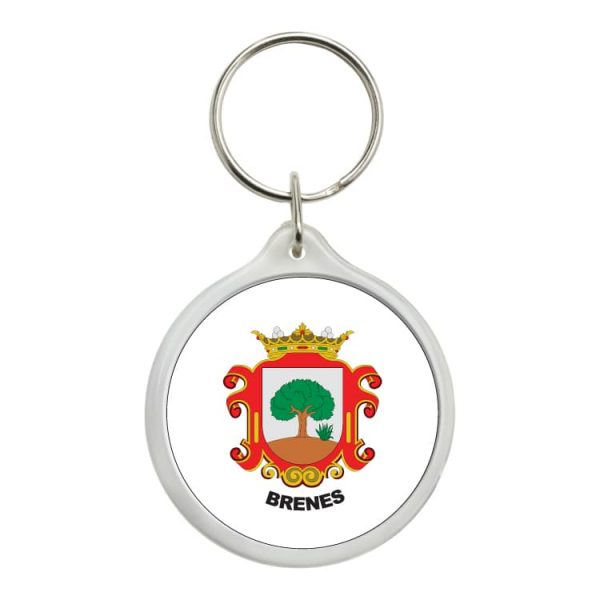 1566 llavero redondo escudo heraldico brenes