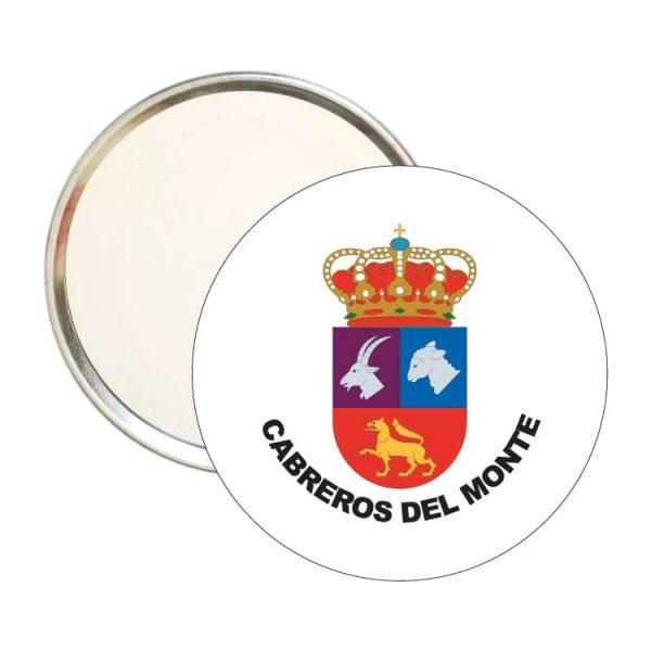 1567 espejo redondo escudo heraldico cabreros del monte