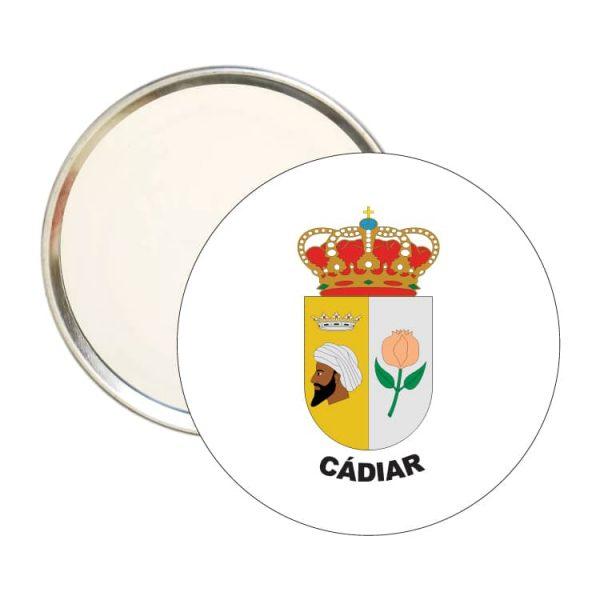 1568 espejo redondo escudo heraldico cadiar