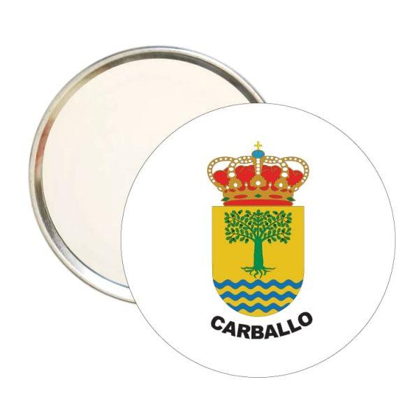 1570 espejo redondo escudo heraldico carballo