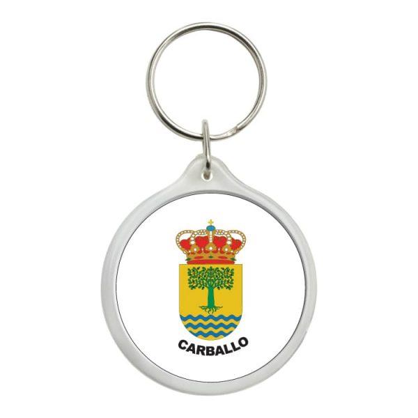 1570 llavero redondo escudo heraldico carballo